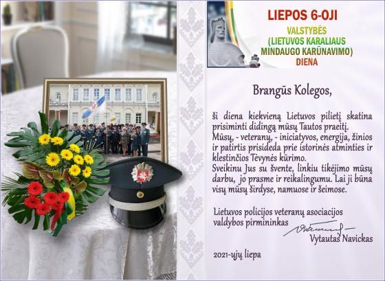 Sveikinimas Valstybės (Lietuvos Karaliaus Mindaugo karūnavimo) dienos proga