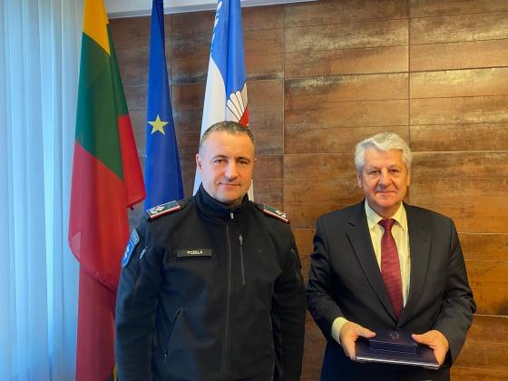 Policijos departamente prie VRM apdovanotas buvęs Vidaus reikalų ministras Romasis Vaitekūnas